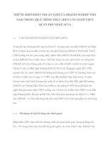 NHỮNG KHÓ KHĂN THUẬN LỢI CỦA DOANH NGHIỆP VIỆT NAM TRONG QUÁ TRÌNH THỰC HIỆN CẮT GIẢM THUẾ QUAN HỘI NHẬP AFTA