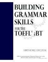 Building grammar skills for the toefl ibt