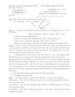 Bài soạn Đề và đáp án thi HSG Hóa 9 vòng 2