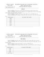 Bài soạn Đề và đáp án Sử 7 HKI 2010-2011