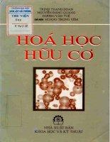 Hóa học hữu cơ tập 1 - Hoàng Trọng Yêm