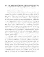 GIẢI PHÁP TĂNG CƯỜNG CÔNG TÁC KTNB ĐỐI VỚI CÔNG TÁC  KẾ TOÁN TẠI CHI NHÁNH NHNO&PTNT TRÙNG KHÁNH – CAO BẰNG