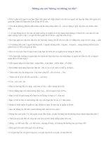 Bài giảng nhung cau noi bat hu
