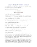 đề thi môn luật cán bộ công chức năm 2009 đối với cấp quận