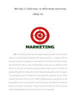 Hỏi đáp về chiến lược và chiến thuật marketing (Phần 15)