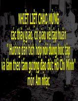 Gián án Tích hợp nội dung học tập và làm theo tấm gương đạo đức Hồ Chí Minh trong chương trình môn Âm nhạc THCS