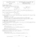 Bài giảng Đề ôn tập Toán 11 HK2 - đề số 18