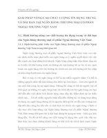 GIẢI PHÁP NÂNG CAO CHẤT LƯỢNG TÍN DỤNG TRUNG VÀ DÀI HẠN TẠI NGÂN HÀNG THƯƠNG MẠI CỔ PHẦN NGOẠI THƯƠNG VIỆT NAM