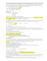 BÀI GIẢI ĐỀ THI TUYỂN SINH ĐẠI HỌC NĂM 2010- MÔN HÓA HỌC – KHỐI B – MÃ ĐỀ :937