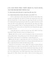 CÁC GIẢI PHÁP PHÁT TRIỂN DỊCH VỤ NGÂN HÀNG TẠI CHI NHÁNH NHCT ĐỒNG NAI