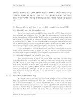 TRIỂN VỌNG VÀ GIẢI PHÁP NHẰM PHÁT TRIỂN DỊCH VỤ THANH TOÁN SỬ DỤNG THẺ TẠI CÁC NGÂN HÀNG THƯƠNG MẠI  VIỆT NAM TRONG ĐIỀU KIỆN HỘI NHẬP KINH TẾ QUỐC TẾ
