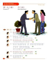 Lesson 9_Speak Mandarin in Five Hundred Words English version