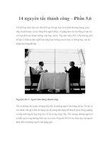 14 nguyên tắc thành công – Phần 5,6