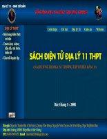 Bài soạn Sách điện tử Địa lý 11