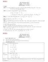 Bài giảng Bo de thi HK2 Toan 6 co dap an(14 đề)
