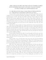 THỰC TRẠNG TỔ CHỨC KẾ TOÁN TÀI SẢN CỐ ĐỊNH VÀ PHÂN TÍCH TÌNH HÌNH TRANG BỊ VÀ SỬ DỤNG TÀI SẢN CỐ ĐỊNH