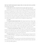 MỘT SỐ Ý KIẾN NHẰM HOÀN THIỆN CÔNG TÁC KẾ TOÁN VBT TẠI CÔNG TY CP NHỰA ĐÀ NẴNG
