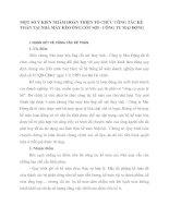 MỘT SỐ Ý KIẾN NHẰM HOÀN THIỆN TỔ CHỨC CÔNG TÁC KẾ TOÁN TẠI NHÀ MÁY KÉO ỐNG CỐT SỢI