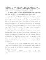 NHẬN XÉT VÀ GIẢI PHÁP HOÀN THIỆN KẾ TOÁNTIÊU THỤ THÀNH PHẨM VÀ XÁC ĐỊNH KẾT QUẢ KINH DOANH TẠICÔNG TY TNHH THƯƠNG MẠI VÀ DỊCH VỤ ĐỨC THỊNH