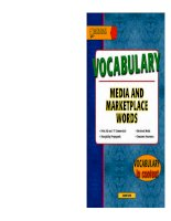 Vocabulary - media and marketplace words