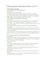 PHƯƠNG PHÁP HỌC HÌNH KHÔNG GIAN 11