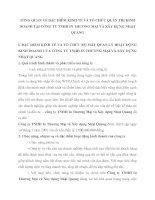 TỔNG QUAN VỀ ĐẶC ĐIỂM KINH TẾ VÀ TỔ CHỨC QUẢN TRỊ KINH DOANH TẠI CÔNG TY TNHH IN THƯƠNG MẠI VÀ XÂY DỰNG NHẬT QUANG