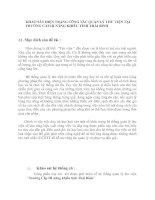 KHẢO SÁT HIỆN TRẠNG CÔNG TÁC QUẢN LÝ THƯ VIỆN TẠI TRƯỜNG CẤP III NĂNG KHIẾU TỈNH THÁI BÌNH
