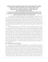 BÀI HỌC KINH NGHIỆM VÀ VIỆC HOÀN THIỆN CÔNG TÁC KIỂM TOÁN CHU TRÌNH HÀNG TỒN KHO TRONG KIỂM TOÁN
