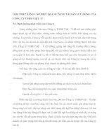 GIẢI PHÁP NÂNG CAO HIỆU QUẢ SỬ DỤNG TÀI SẢN LƯU ĐỘNG CỦA CÔNG TY TNHH VIỆT - Ý