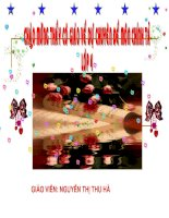 Bài soạn Chuyen de chinh ta lop 4