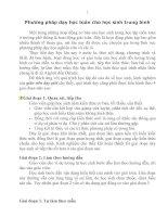 Bài soạn PHƯƠNG PHÁP DẠY TOÁN CHO HS TB - YẾU