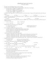 BÔ ĐÊ TRAC NGHIỆM ( 4 MÃ ĐỀ ) HK 1 - HAY