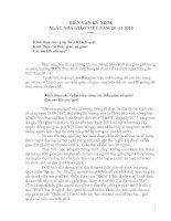 Tài liệu Diễn văn kỉ niệm ngày nhà giáo Việt Nam
