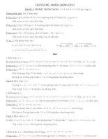 Tài liệu các dạng phương trình vô tỉ và cách giải