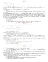 Bài soạn Bo de thi HK2 Toan 9 Tp Phan Thiet (11ĐỀ)