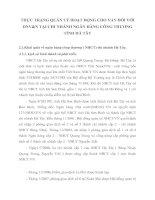 THỰC TRẠNG QUẢN LÝ HOẠT ĐỘNG CHO VAY ĐỐI VỚI DNV&N TẠI CHI NHÁNH NGÂN HÀNG CÔNG THƯƠNG TỈNH HÀ TÂY