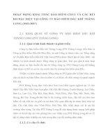 HOẠT ĐỘNG KHAI THÁC BẢO HIỂM CHÁY VÀ CÁC RỦI RO ĐẶC BIỆT TẠI CÔNG TY BẢO HIỂM DẦU KHÍ THĂNG LONG