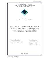 Phân tích tình xuất khẩu thủy sản của công ty TNHH thủy sản Phương Đông.pdf