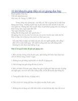 10 loi khuyen giup thay co co giong doc hay