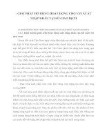 GIẢI PHÁP MỞ RỘNG HOẠT ĐỘNG CHO VAY XUẤT NHẬP KHẨU TẠI SỞ GIAO DỊCH