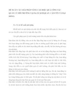ĐỂ XUẤT CÁC GIẢI PHÁP NÂNG CAO HIỆU QUẢ CÔNG TÁC QUẢN LÝ MÔI TRƯỜNG TẠI BA XÃ KIM QUAN  CẨM YÊN VÀ ĐẠI ĐỒNG