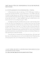 THỰC TRẠNG CÔNG TÁC THẨM ĐỊNH DỰ ÁN TẠI CHI NHÁNH HÀ NỘI VP BANK