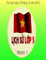 lich su 5-thu đong 1947, Viet bac mo chon giac Phap