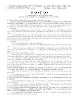 Gián án BAO CAO CHUAN KIEN THUC KI NANG