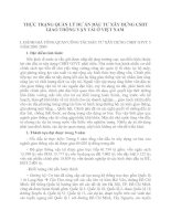THỰC TRẠNG QUẢN LÝ DƯ ÁN ĐẦU TƯ XÂY DỰNG CSHT GIAO THÔNG VẬN TẢI Ở VIỆT NAM