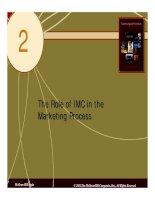 Chuyên viên quảng cáo (IMC) - Chương 2: Vai trò của IMC trong quy trình marketing