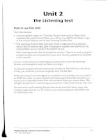 The listening test