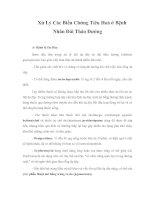 Xử Lý Các Biến Chứng Tiêu Hoá ở Bệnh Nhân Đái Tháo Đường