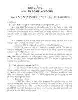 Bài giảng An Toàn LAo Động