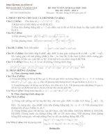 Bài soạn LT cấp tốc Toán 2010 số 1